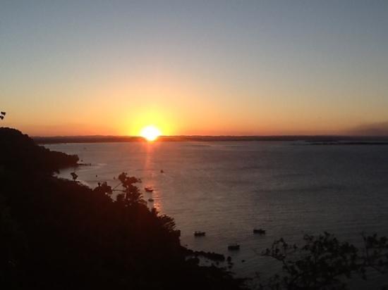 Pousada Porto de Cima: Pôr do sol visto do Mirante da Tirolesa - Morro de São Paulo/BA