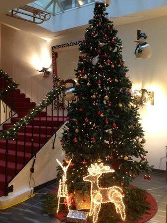Leoneck Swiss Hotel: новогодняя елка в отеле