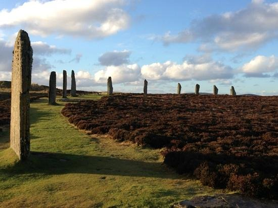 Buxa Farm Chalets & Croft House: ring of brodgar to ourselves on Boxing Day