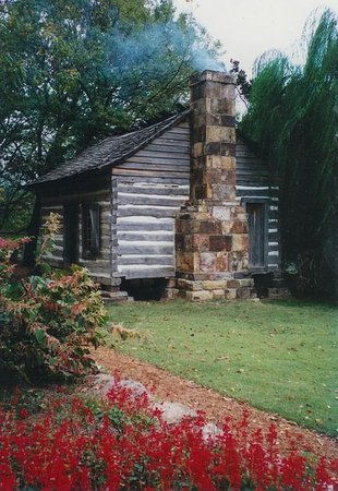 Shiloh Museum of Ozark History: Ritter-McDonald CaLog bin on the msueum grounds