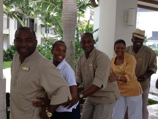 Secrets Wild Orchid Montego Bay: employees doing conga line