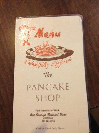 The Pancake Shop: Menu