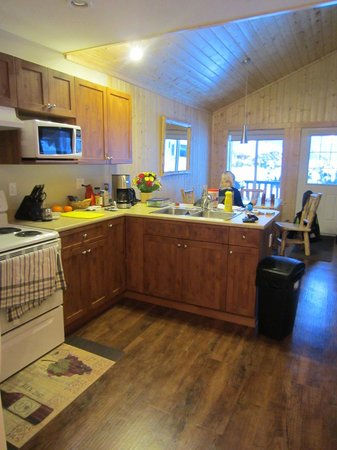 Sunshine Valley RV Resort & Cabins : Kitchen