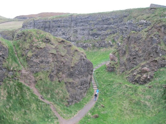 Dunluce Castle: The view from the top