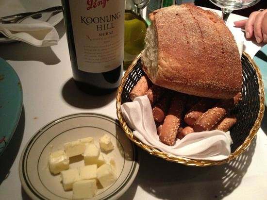 Sam's Place : Clarified butter, Olive Oil, Gressini and Italian bread to start. Excellent