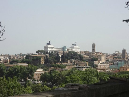Hotel Villa San Pio: view from the top of aventine hill, very short walk from hotel