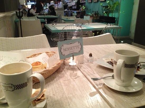 Noisette Gourmet : unbelievably fresh croissant, amazing cappuchino and pancake!