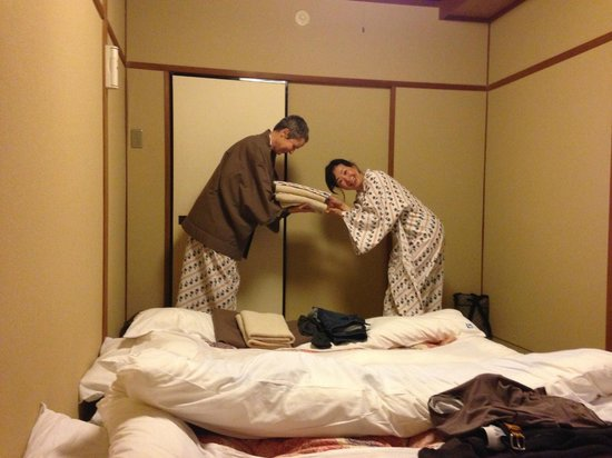 Nishiyama Ryokan: A bit of silliness in our room.
