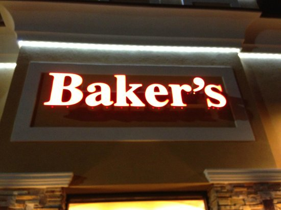 Baker's Restaurant: New Baker's sign