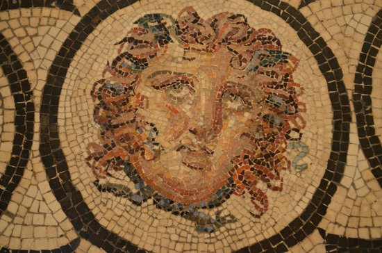 National Archaeological Museum of Naples: Detail of an ancient mosaic