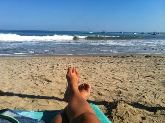 Las Pocitas Beach: full relajo