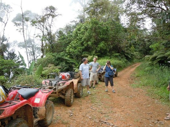 "Jungle ATV Quad Tours: One of a number of ""breaks"" on the trip."