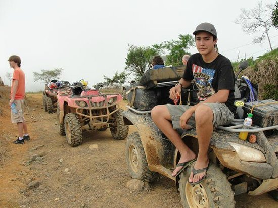 Jungle ATV Quad Tours: Richard posing for our camera aenr the top of the mountain.