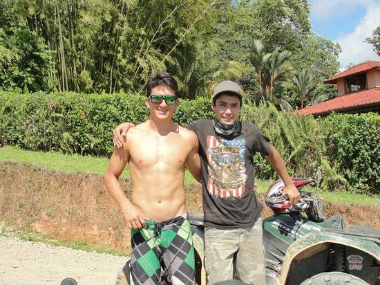 Jungle ATV Quad Tours: Diego (left) and Richard weren't shy about posing for the camera. They were GREAT guides.