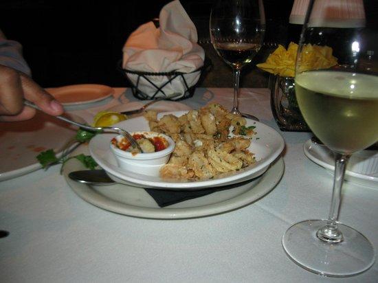 Pampas Steakhouse: calamari and rock shrimp appetizer