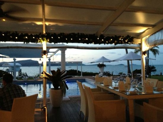 Coral Sea Resort: View from the Coral Sea Restaurant at Breakfast/Lunch & Dinner!