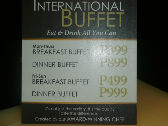 Luxent Hotel: buffet