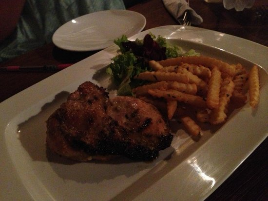 The Alcove Library Hotel: roast chicken at the roadhouse 5th floor