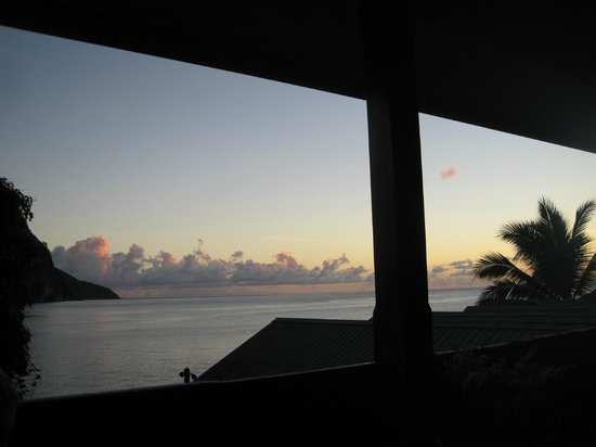 The Still Beach House: Sunset on Balcony