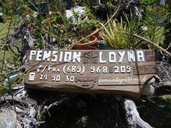 Pension Loyna : Panneau