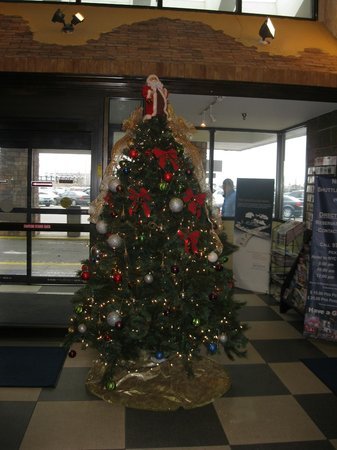 Howard Johnson Hotel - Newark Airport: christmas tree in lobby