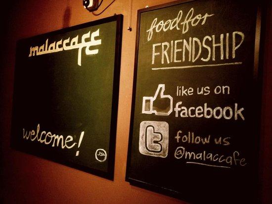 Malaccafe: blackboard