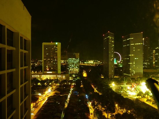 Village Hotel Bugis by Far East Hospitality: View from the room can see the flyer