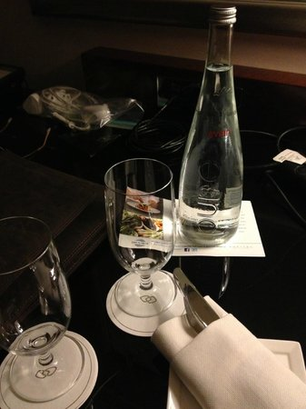 Sofitel Washington DC: Water we received to kick off our honeymoon celebrations - strange