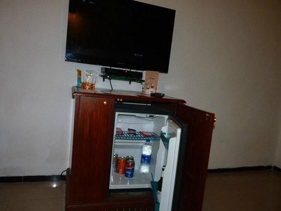 Savera Hotel: TV and mini bar