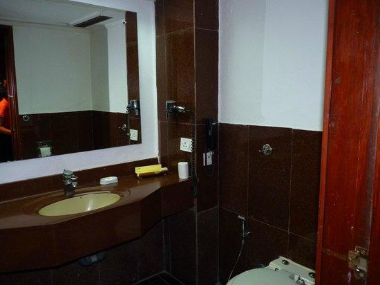 Savera Hotel: small bathroom
