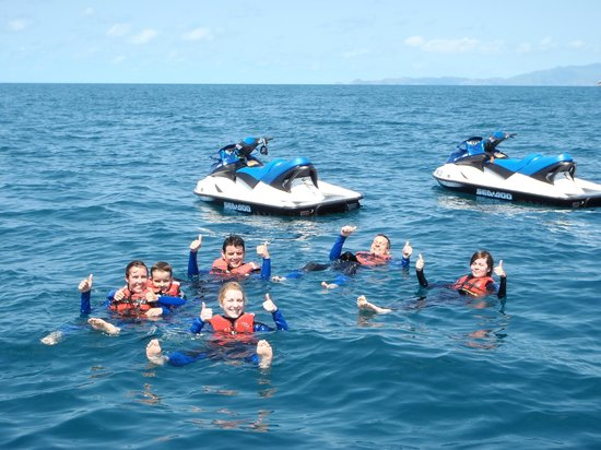 Magnetic Jet Adrenalin Jet Ski Tours: Taking a dip, way off shore.
