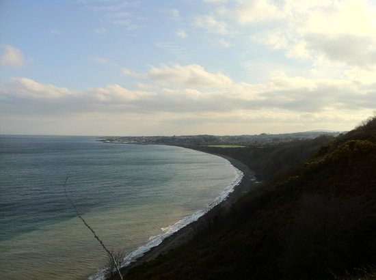 The Bray to Greystones Cliff Walk: Blick auf Greystones