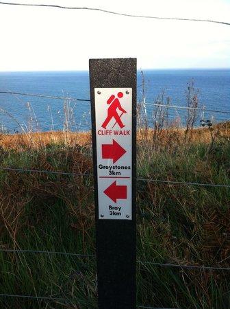 The Bray to Greystones Cliff Walk: Halbzeit beim Cliffwalk