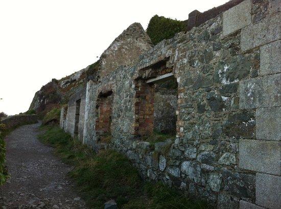The Bray to Greystones Cliff Walk: Ruine nähe Bray