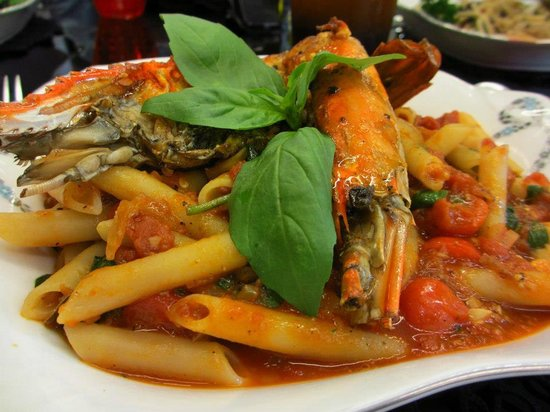 It's Happened to be a Closet - The Emporium: penne arrabiata with river prawn
