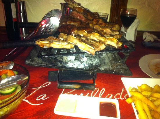 La Parrillada: Meat platter for two.