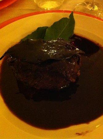 Albergo La Fontanella: filetto al Chianti