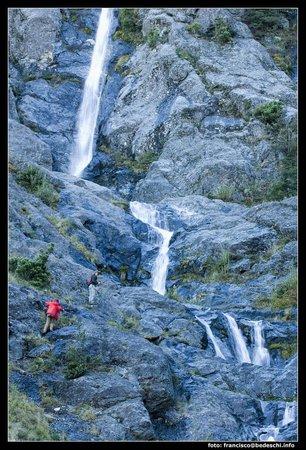 Estancia Peuma Hue: many waterfall inside the property
