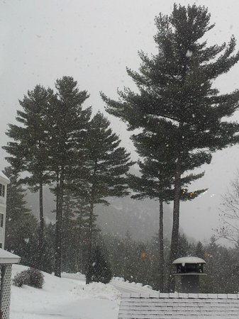 White Mountain Hotel and Resort: Snowfall at Breakfast