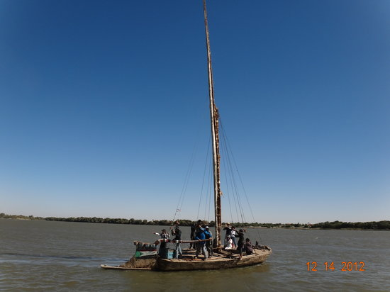 Not many Nubian boat remain in Sudan so one in Dongola with Nubian Village tour.