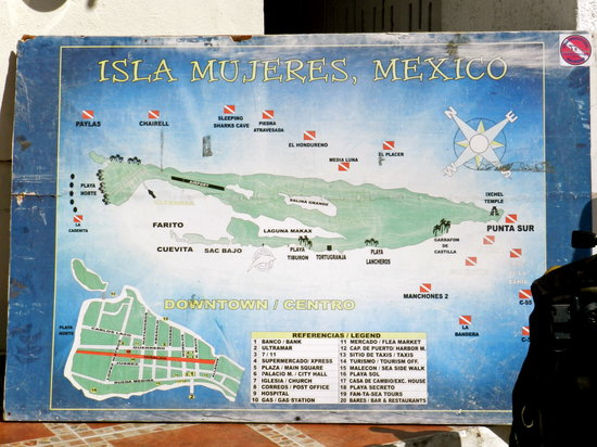 El Centro: map of the island