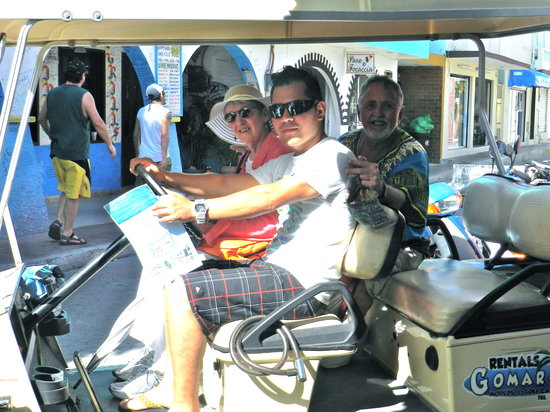 El Centro: rent a golf cart to see more of the island