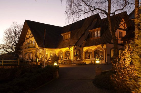 Hostellerie La Cheneaudiere - Relais & Chateaux: Facade de nuit