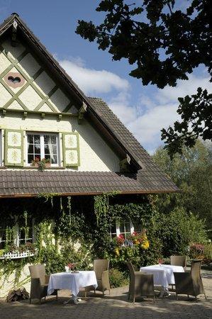Hostellerie La Cheneaudiere - Relais & Chateaux: Une des terrasses