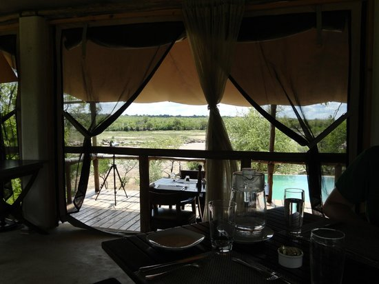 Azura Selous Game Reserve: View from dining area