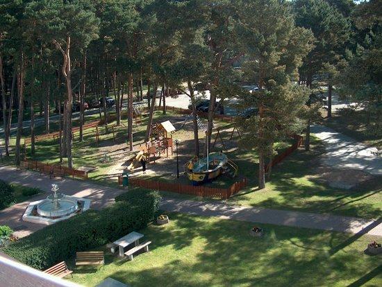 Bocianie Gniazdo Hotel: Blick vom Balkon