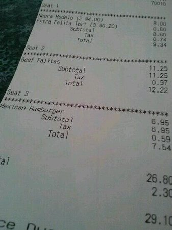 Los Arcos Mexican Restaurant: fajitas and mexican hamburger
