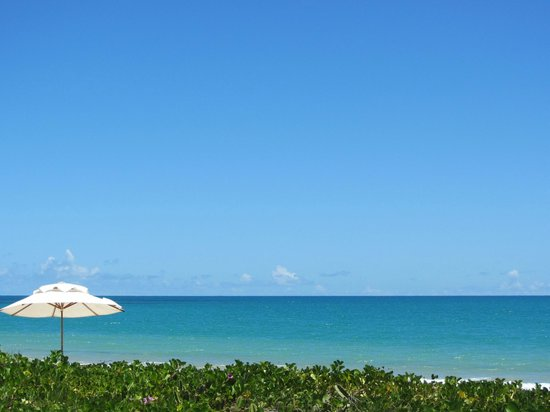 Villas de Trancoso Beach Bar & Restaurant: Praia em frente ao Villas (Praia dos Nativos)