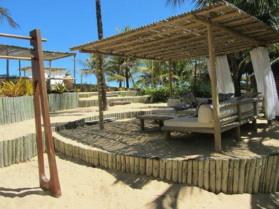 Villas de Trancoso Beach Bar & Restaurant : Estrutura de praia do Villas
