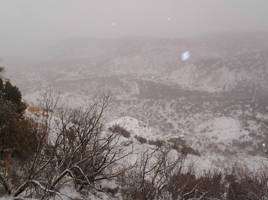 Palo Duro Canyon State Park: Snow view